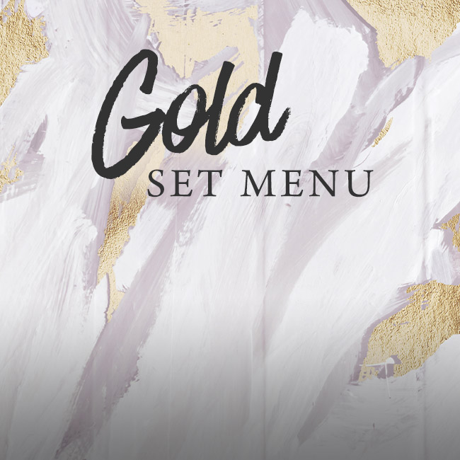 Gold set menu at The King William IV