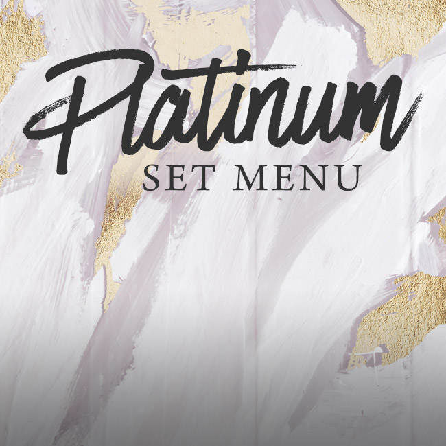 Platinum set menu at The King William IV