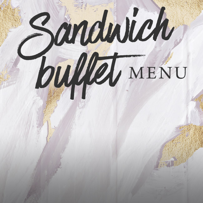 Sandwich buffet menu at The King William IV